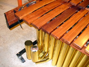 Low End Marimba Keyboard and Brass Tuneable Resonators.