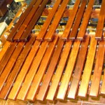 Another view of the low end bars of custom 4.5 octave (Low F) Xylophone